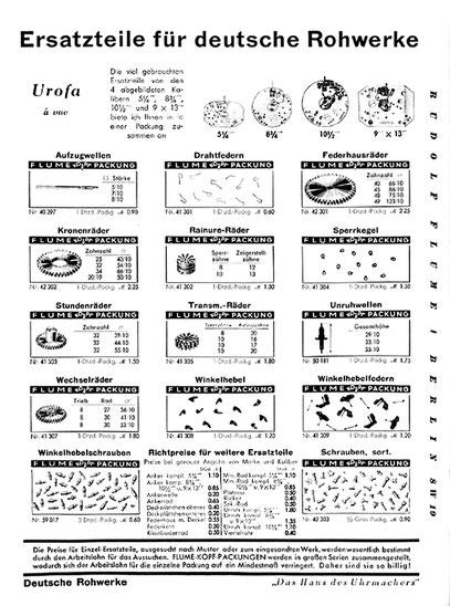 Quelle: 1937 Flume Ersatzteilverzeichnis Band 1 S. 314