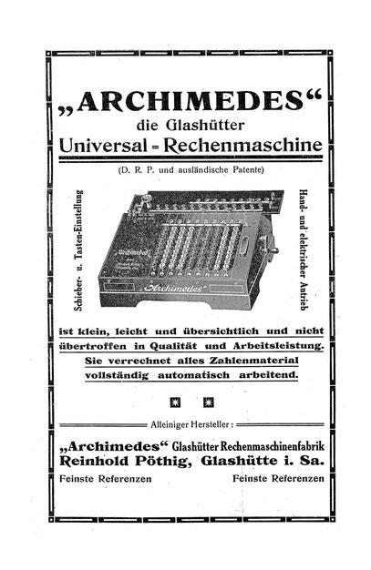 Quelle: Saxonia Heft Nr. 14 von 1916