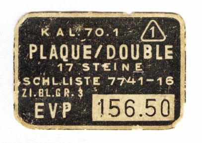EVP - Endverbrauerpreis /erste Hälfte der 1960er Jahre
