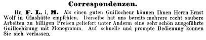 Quelle: Deutsche Uhrmacher-Zeitung Nr.8 vom 16. April 1884 S.59