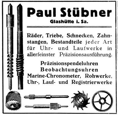 Firmenwerbung aus dem Jahr 1926