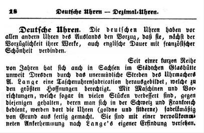 Uhrmacher Lexikon von Ferdinand Schade, Weimar 1855