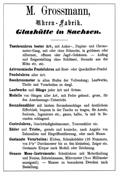 Quelle: M.Großmann; Der Freie Ankergang 1866