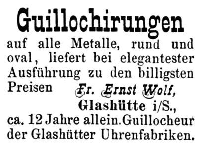 Quelle: Allgemeines Journal der Uhrmacherkunst Nr.47 vom 24. Nov. 1883 S.375