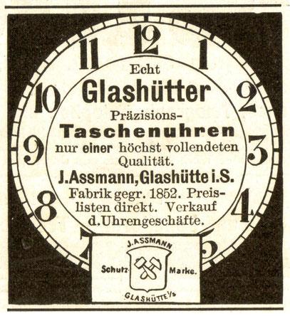 Zeitschriftenwerbung 1910