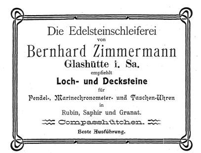 Quelle: Saxonia Heft 1 von 1904 Anzeigeteil