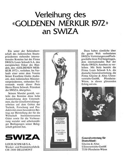 Quelle: Neue Uhrmacher-Zeitung Nr. 16 von 1972 S. 51