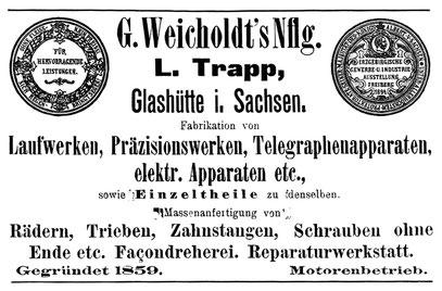 Quelle: Deutsche Uhrmacher-Zeitung Nr. 9 v. 1. Mai 1896 S.189