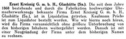 Quelle: Deutsche Uhrmacher-Zeitung Nr.20 vom 15. Mai 1926 S. 401