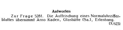 Quelle: Die Uhrmacherkunst vom 04. Okt. 1935 S.584