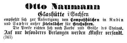 Quelle: Allgemeines Journal der Uhrmacherkunst Nr.44 vom 05. Dez.1977 Anzeigeteil