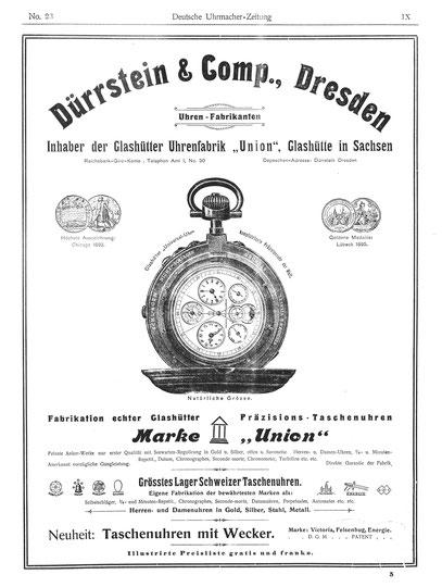 Quelle: Deutsche Uhrmacher Zeitung Nr.23 von 1901