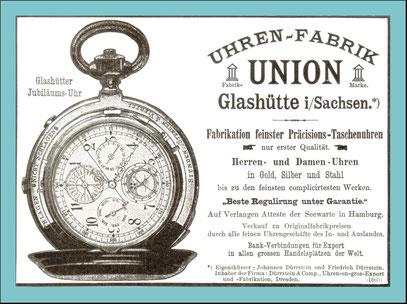Werbeanzeige Uhrenmagazin aus dem Jahr 1898