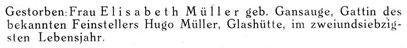 Quelle Deutsche Uhrmacher-Zeitung Nr.08 vom 22. Febr. 1941 S. 66