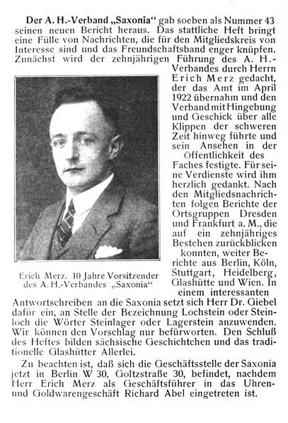 Quelle: Die Uhrmacher-Woche Nr. 28 vom 09. Juli 1932 S. 420