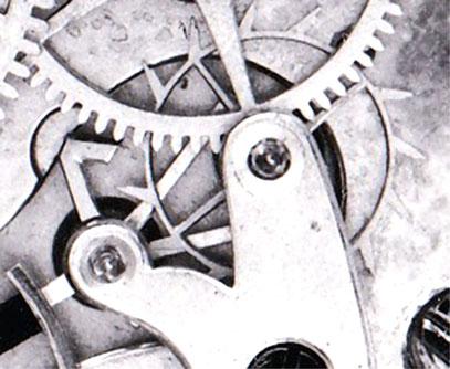 A. Lange & Cie. Werk Nr. 1253 Teilansicht der Gangpertie