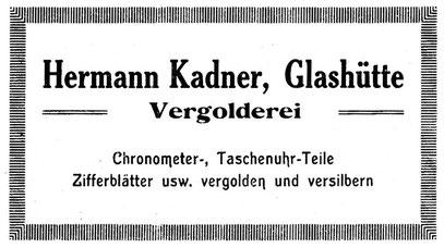 Quelle: Saxonia Hefte 23 Dez.1922 Anzeigeteil