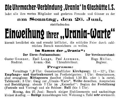 Quelle: Allgemeines Journal der Uhrmacherkunst  Nr.12 vom 15.06.1910