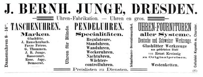 Quelle: Allgemeines Journal der Uhrmacherkunst Nr. 3 vom 1. Febr. 1893 3. Beilage S. 55