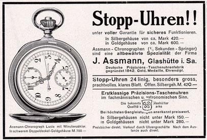 Werbeanzeige in Überregionaler Tageszeitung1912