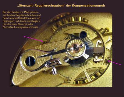 Die Sternzeit - Schrauben der Kompensationsunruh einer Glashütter TU um 1900
