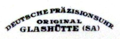 """Eines der Zifferblattsignets der Deutschen Präzisionsuhr """"Original Glashütte"""""""