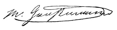 Faximile der Unterschrift des Firmengründers & 1. Aufsichtratsvorsitzenden der Deutschen Uhrmacherschule Glashütte Moritz Großmann