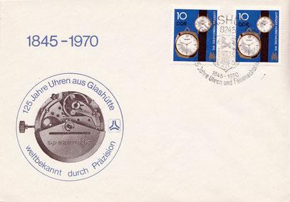 Anlassbrief zum Jubiläum 125 Jahre Glashütter Uhrenindustrie