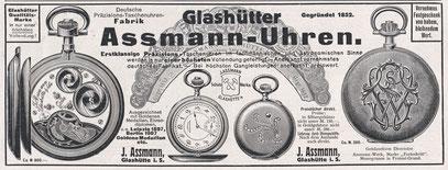 1909 Werbeanzeige für das sogenannte J. Assmann Ankerchronometer
