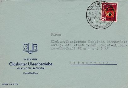 Die exakte Betriebsbezeichnung im Jahr 1952