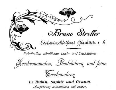 Quelle: Saxonia Heft  Nr.1 von 1904 Anzeigeteil / Sebständig ab 1900