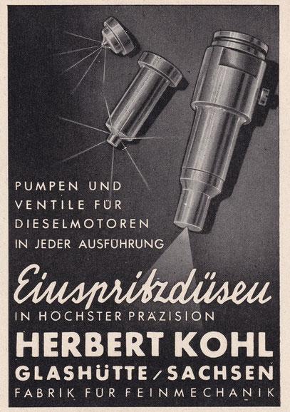 Werbeanzeige aus dem Jahr 1941
