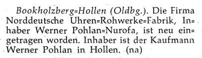 Quelle: Neue Uhrmacher-Zeitung Nr. 09 vom 15. Mai 1957 S. 37