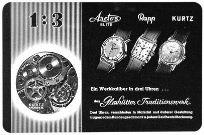 Quelle: Die Uhr Nr. 1/1950 S. 23