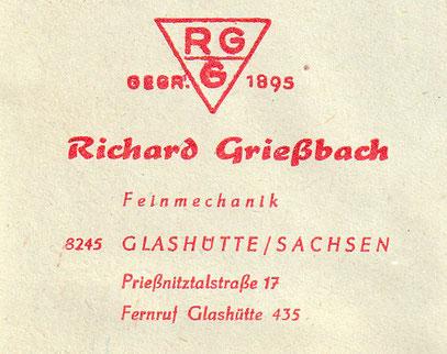 Noch 1971 als sebständige Firma in Glashütte aktiv.