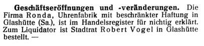 Quelle: Die Uhrmacher-Woche Nr. 35 vom 29. Aug. 1925 S. 644