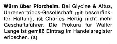 Quelle: Neue Uhrmacher-Zeitung Nr. 21 vom 15.11.1968 S.55