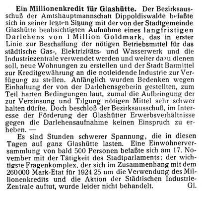 Quelle: Die Uhrmacher-Woche Nr. 48 vom 29. Nov.1924 S. 703