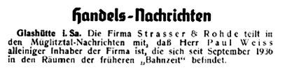 Quelle: Die Uhrmacher-Woche Nr.49 vom 04. Dez. 1937 S. 619
