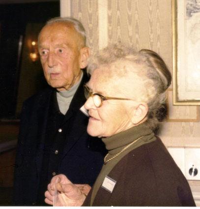 Gustav Gerstenberger mit seiner Frau  um 1980/81