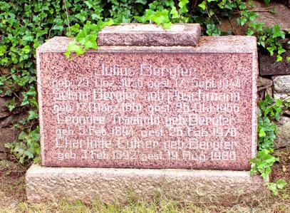 Die Grabstätte von Julius Bergter auf dem Glashütter Friedhof