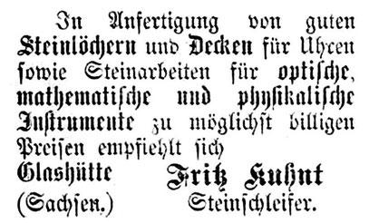 Quelle:Allgemeines Journal der Uhrmacherkunst Nr. o4 vom 15. Febr. 1876 S. 32