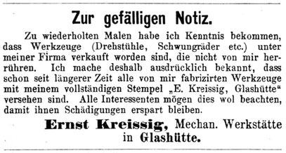 Quelle: Allgemeines Journal der Uhrmacherkunst Nr. 23 vom 05.06.1880 S.188