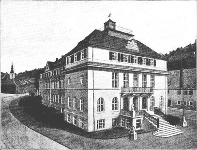 Das erste 1925 veröffentlichte Foto vom Neubau