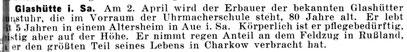 Quelle: Die Uhrmacherkunst Nr. 6 v. 20. März 1942 S. 65