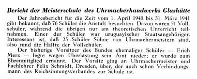 Quelle: Die Uhrmacherkunst Nr. 01 vom 09.01.1942 S. 08