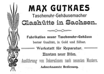 Quelle Saxonia Heft 1 1904 Anzeigeteil