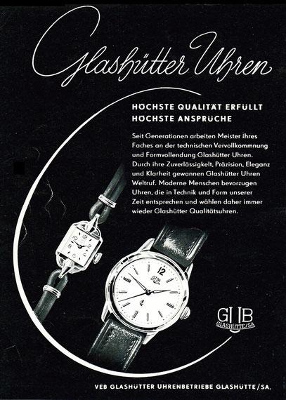 Letzte GUB Werbung für die Auslaufmodelle Kaliber 60.3 & 63, Magazin 8 /1960