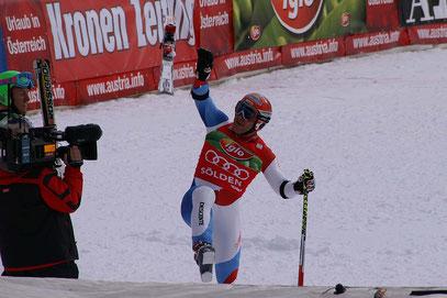 Sieg durch Didier Cuche; Sölden 2009 - Riesenslalom