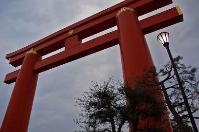 Kyoto - Tempel und Schreine; Torii zum Heian-jingu-Schrein